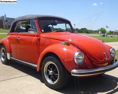 1972 Volkswagen Super Beetle Convertible Restored