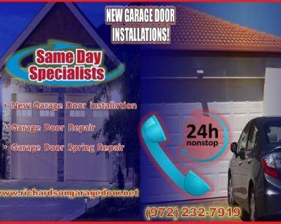 Start $25.95 – Top Most Rated New Garage Door Installation 75081, TX