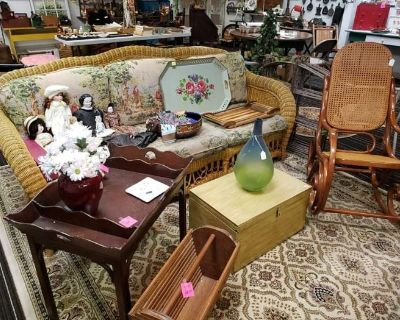 Antique shop liquidation sale @1234 -- shop is closing and everything must go!