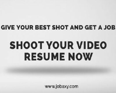How to do a Video Resume – In 3 minuteswith Jobaxy