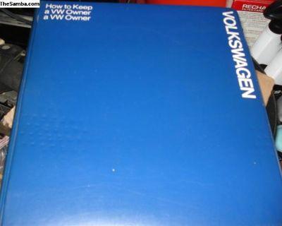 VW Workshop Manual/book On Watercooled