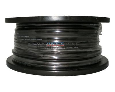 The Install Bay Ibgn08-250 Black 8 Gauge 250' Feet Cca Ground Battery Cable