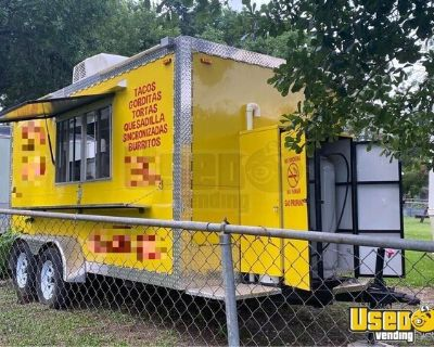 2018 7' x 14' Used Mobile Kitchen / Food Concession Trailer
