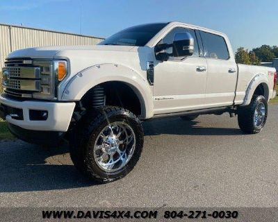 2017 FORD F-250 Superduty Platinum 4x4 Diesel Lifted Pickup 161034