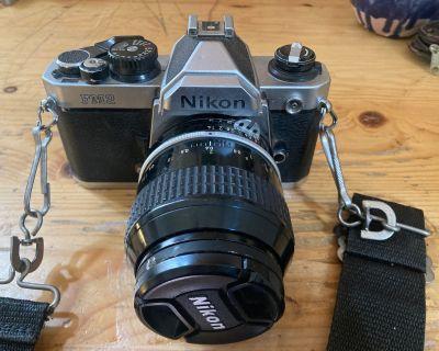 Nikon FM2 Camera w/2 lenses