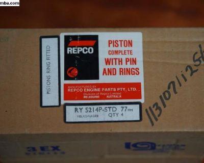 NOS Piston Set of 4 - 77mm 113107112G/F Brazil