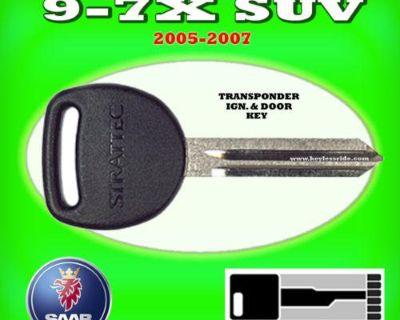 05 06 07 Saab 9-7x Suv Transponder Chip Ignition Key