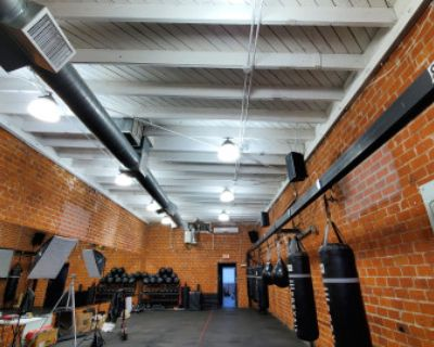 West Hollywood Boxing & Fitness Gym with modern look meets old school brick, LOS ANGELES, CA