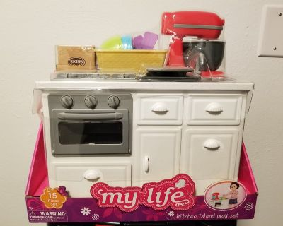 My Life As 19006 15-Piece Kitchen Island Play Set, Designed for Ages 5 and Up