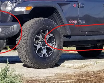 Washington - Rubicon Sliders, Front Bumper, Gas Cans