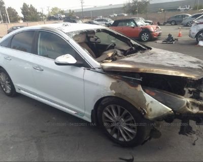 Salvage White 2015 Hyundai Sonata