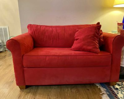 UGA RED Love Seat Hide-a-Bed