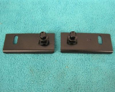 1970 Challenger Grille Center Support Brackets To Hood Latch Tray, Nice Cln Pair