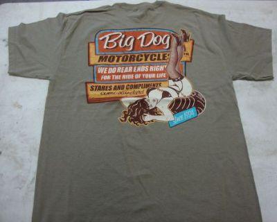 Big Dog Motorcycles Vintage Sign Shirt L W/ Front & Back Design Short Sleeve