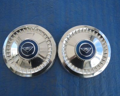 1 Set Of 2 Used 62 63 64 Chevy Corvair Dog Dish Hubcaps Sg3