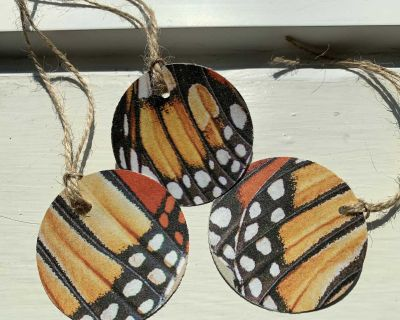 Handmade Butterfly Gift Tags from Book Pages