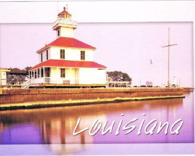 New Canal Lighthouse Louisiana Postcard - Est 1838 - Unposted