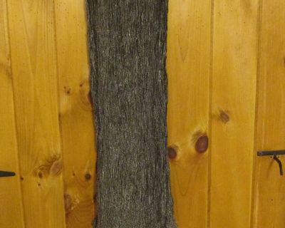 """Tags removed 62"""" long/ 9"""" wide, but stretchy; black/gold metallic; scarf"""