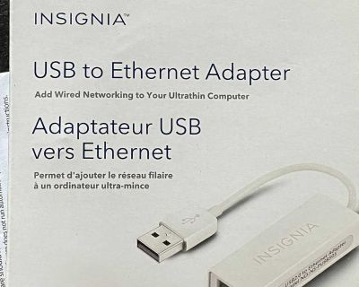 INSIGNIA USB to Ethernet adapter