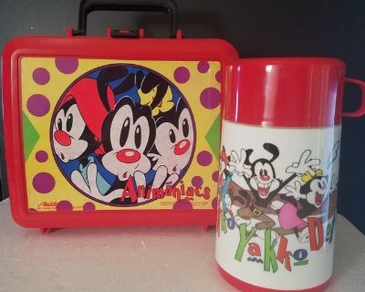 NWT! 1990 s Animaniacs Lunch Box with Thermos