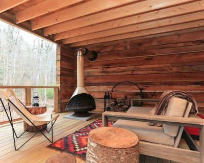 New Cabin! Hot tub, fire pit, nearby hiking, short Uber downtown. - Asheville