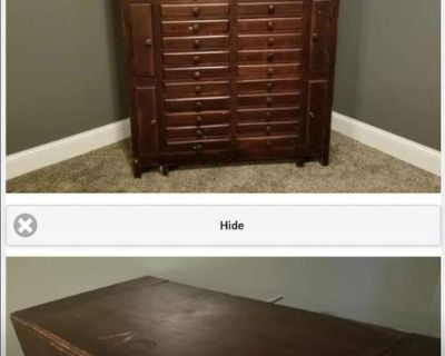 Unique, rare find...antique violin sheet music stand cabinet. Circa early 1920s.