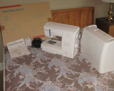 Portable Sewing Machine (Janome) with Quilting Table