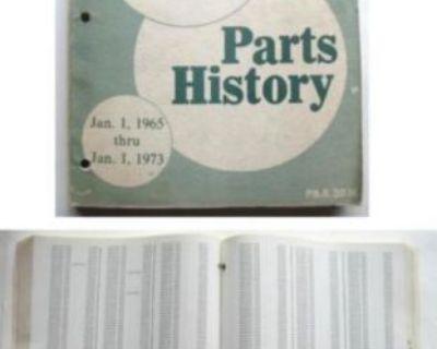 1965-1973 Chevy Nos Parts History Book Camaro Chevelle Impala Corvette Monte ++