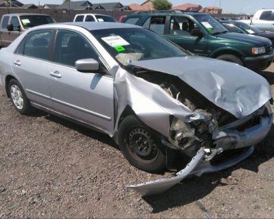 Salvage Silver 2003 Honda Accord Sdn