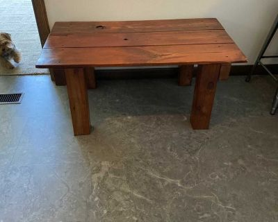 Hand crafted coffee table solid wood
