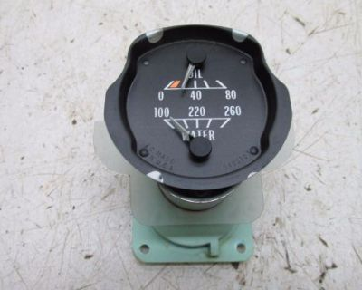 70-79 Pontiac Firebird Trans Am Oil And Water Gauge (for Parts Or Repair)