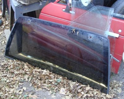backglass & front windows and motors 92 S-10 Blazer