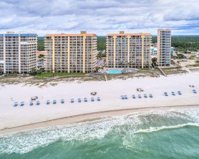Modern, beachfront condo w/ a spacious patio, shared pools, hot tub, & tennis - Orange Beach