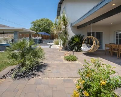 Desert Back Yard Retreat with Waterslide, Grotto, Huge Pool, Cathedral City, CA