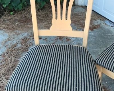 6 Beechwood Dining Room Chairs