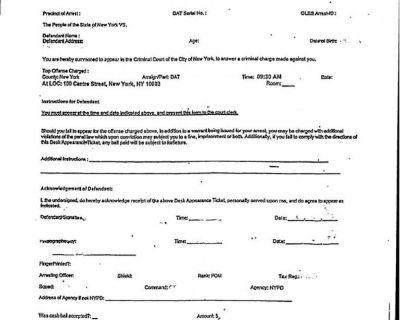 New York Desk Appearance Ticket Lawyer