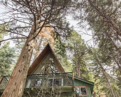 Vintage A-Frame Cabin with Forest Views, Skyforest, CA