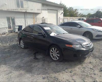 Salvage Black 2008 Acura Tsx
