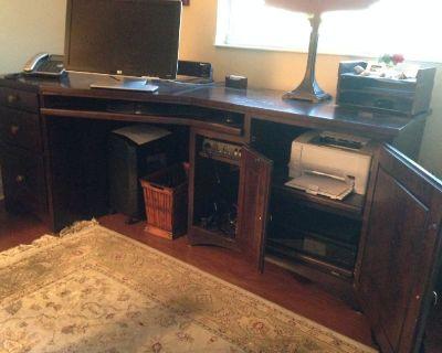 Large cherry office desk