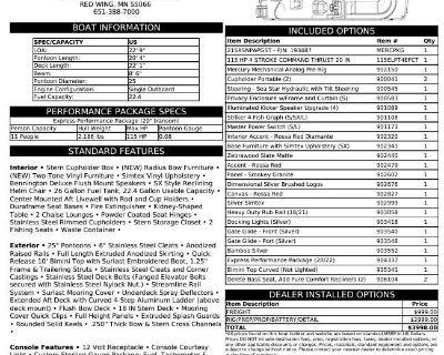 2022 Bennington SX Series 21 SSNPX APG - REAR FISH