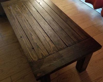 Rustic all wood coffee table