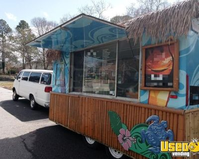 One-of-a-Kind 2015 - 7' x 16' Shaved Ice Concession Trailer