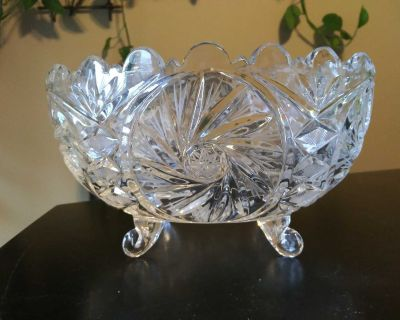 Vintage Crystal Glass Candy Dish