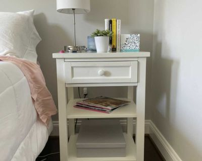White Pottery Barn Nightstand / Bedside Table