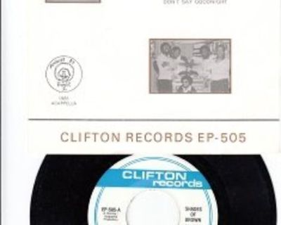SHADES OF BROWN ~ Mint-RARE EP w/45*!