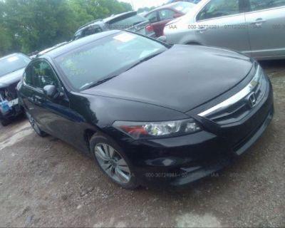 Salvage Black 2012 Honda Accord Cpe
