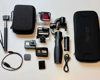 GoPro Hero 5 with accessories and iSteady Pro HandHeld Gimbal