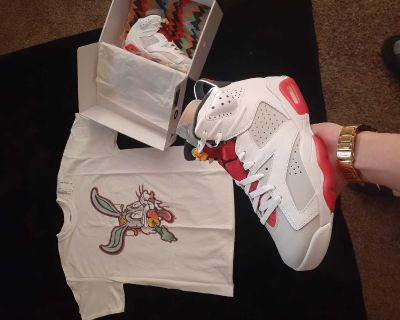 """Jordan 6s """"Hare"""" size 9"""