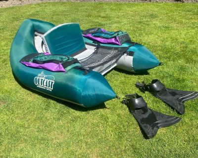 Outcast Float Tube and Force Flippers