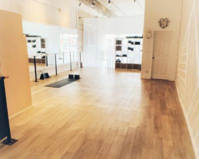 Intimate Yoga/ Dance studio with ballet barre and mirrored wall in the Heart of West Hollywood, West Hollywood, CA